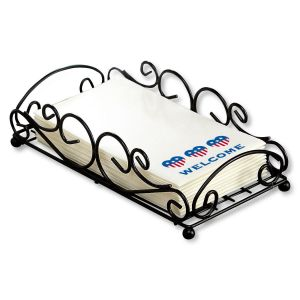 Black Metal Scroll Towel Basket