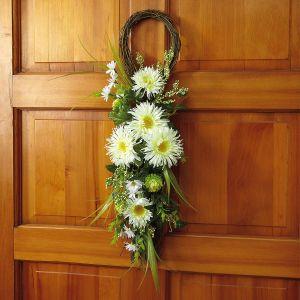 Floral Teardrop Wreath