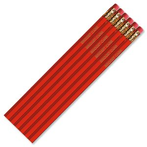 Dark Red #2 Hardwood Personalized Pencils