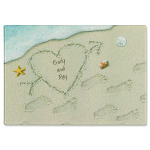 Heart in the Sand Cutting Board
