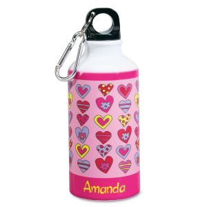 Crazy Hearts Water Bottle