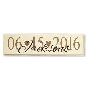 Wedding Date Plaque by Current Catalog