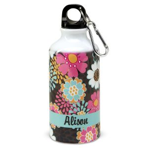 Mocha Flowers Water Bottle