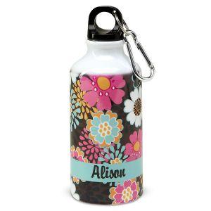 Mocha Flowers Water Bottle