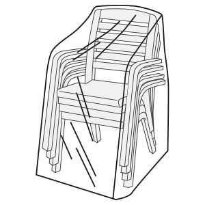 Stacking 4-Chair Vinyl Furniture Cover