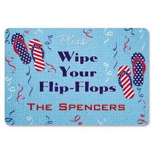 Patriotic Flip Flop Doormat