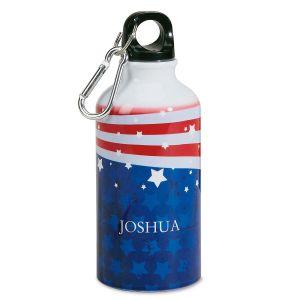 Patriotic Personalized Kids' Water Bottle
