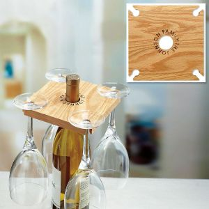 Party of 4 Personalized Wine Service Rack