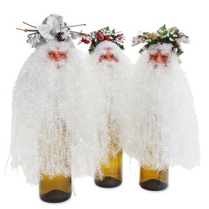 Flowing Bearded Santa Wine Bottle Topper