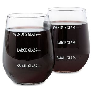 Stemless Drink Measure Wine Glass