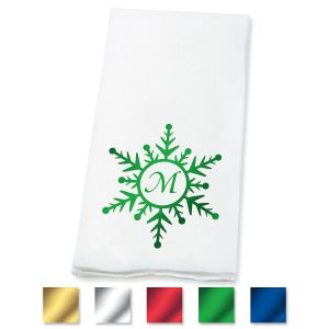 Disposable Snowflake Initial Hand Towels
