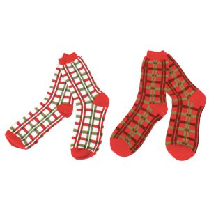 Plaid Women's Holiday Crew Socks