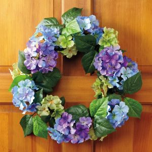 Purple Hydrangea Wreath