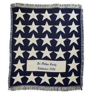 Patriotic Stars Throw