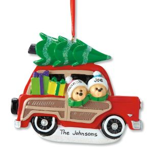 Woody Wagon Family Personalized Christmas Ornament