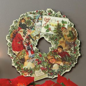 Vintage Christmas Diecut Wreath