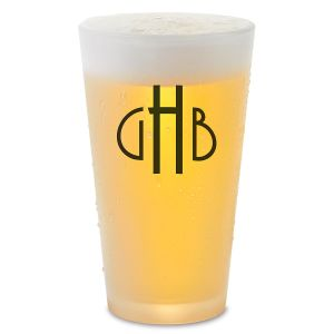Monogram Pint Personalized Glass
