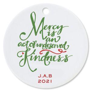 Mercy Ceramic Personalized Christmas Ornament