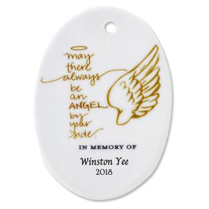 Personalized May There Always Oval Memorial Christmas Ornaments
