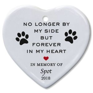Personalized Forever In My Heart Pet Memorial Ornament