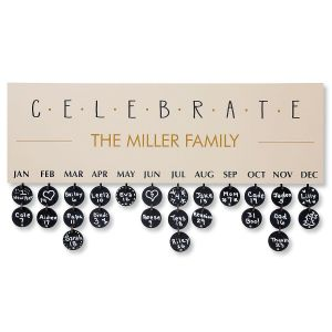 Celebrate Dates Customized Plaque