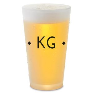 Diamond Initials Personalized Pint Beer Glass