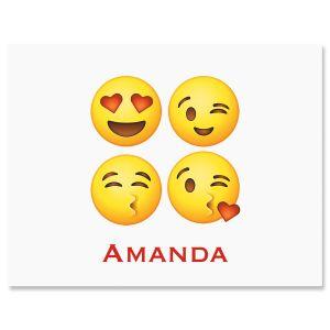 Emoji Personalized Correspondence Cards