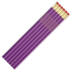 Purple #2 Hardwood Personalized Pencils