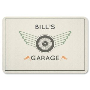 Personalized Tire and Wheel Garage Doormat