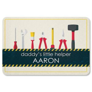 Daddy's Little Helper Personalized Doormat