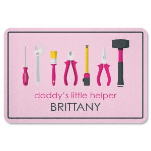 Daddy's Little Girl Helper Personalized Garage Doormat