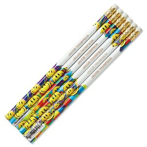 Smiley Faces #2 Hardwood Personalized Pencils