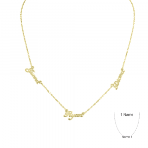 Gold Plate Multi Name Personalized Necklace