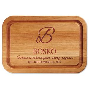 Personalized Home is Where Your Story Begins Wood Cutting Board