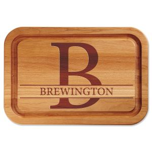 Large Initial Engraved Wood Cutting Board