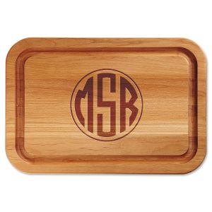 Personalized Monogram Engraved Wood Cutting Board