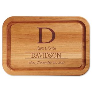 Personalized Initial Wood Cutting Board