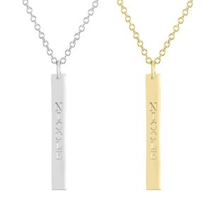 Bridgett Vertical Bar Personalized Necklace