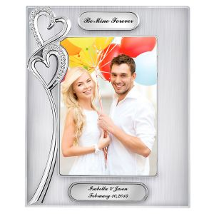 Personalized Double Hearts Picture Frame