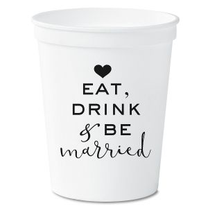 Eat, Drink and Be Married Party Stadium Cups by Current Catalog
