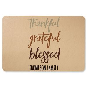 Personalized Thankful Grateful Blessed Doormat