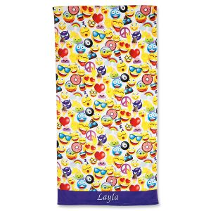 Emoji Personalized Beach Towel