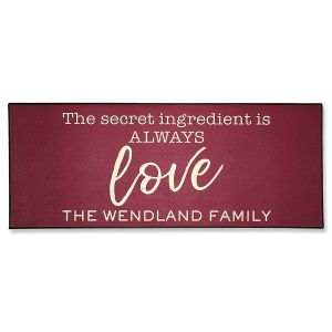 Love Double Personalized Doormat