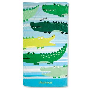 Alligator Personalized Beach Towel