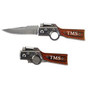 Gun-Shaped Personalized Pocket Knife
