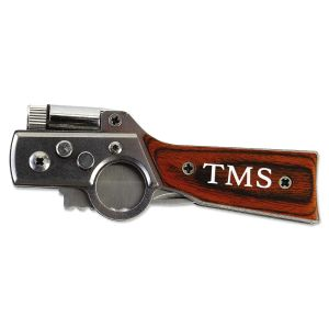 Gun-Shaped Personalized Pocket Knife