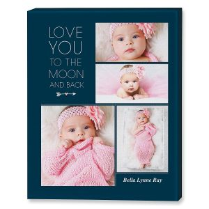 Love You Collage Canvas Photo Print