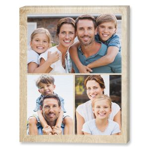 Midtone Wood Collage Canvas Photo Print