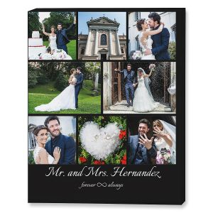 Mr. & Mrs. Collage Canvas Photo Print