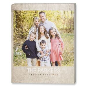 Light Wood Photo Canvas